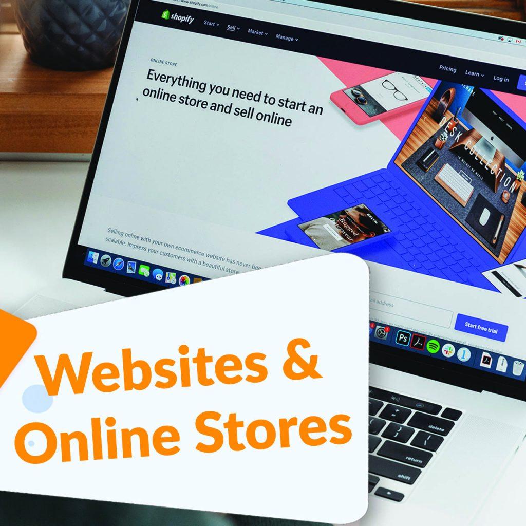 websites & online stores tab